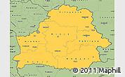 Savanna Style Simple Map of Belarus