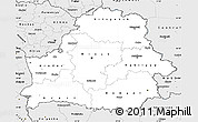 Silver Style Simple Map of Belarus