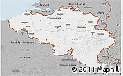 Gray 3D Map of Belgium