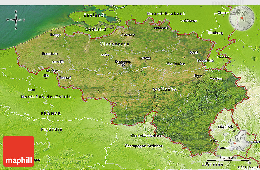 Maps Update 14121111 Belgium Geographical Map Physical Map of – Map of Belguim