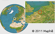 Satellite Location Map of Brussel