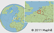 Savanna Style Location Map of Brussel