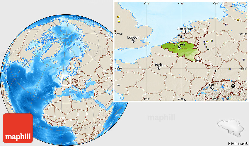 Physical location map of belgium shaded relief outside gumiabroncs Image collections
