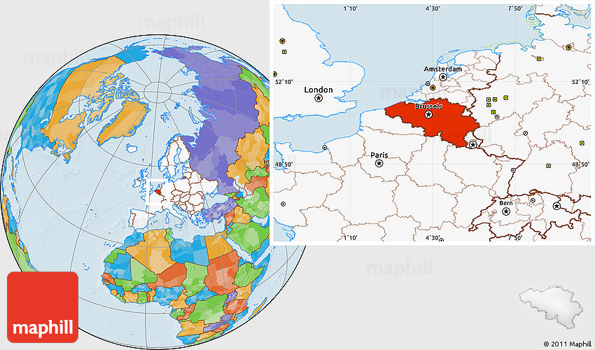Maps Update 20001193 Belgium Location on World Map Belgium – Belgium on a World Map