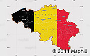 Flag Map of Belgium