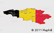 Flag Panoramic Map of Belgium