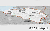 Gray Panoramic Map of Belgium