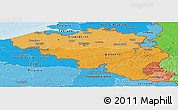 Political Shades Panoramic Map of Belgium