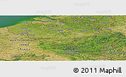 Satellite Panoramic Map of Belgium