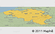 Savanna Style Panoramic Map of Belgium