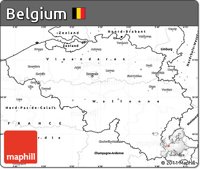 Free Blank Simple Map of Belgium
