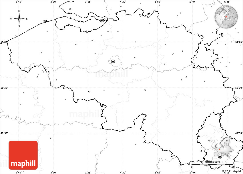 blank simple map of belgium  no labels