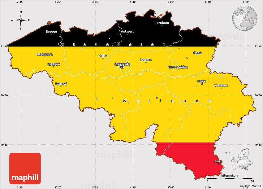 Maps Update 1200864 Belgium on a Map Political Map of Belgium – Map of Belguim