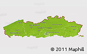 Physical 3D Map of Vlaanderen, cropped outside