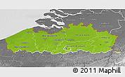 Physical 3D Map of Vlaanderen, desaturated