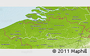 Physical 3D Map of Vlaanderen