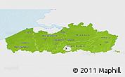 Physical 3D Map of Vlaanderen, single color outside