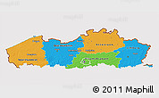 Political 3D Map of Vlaanderen, cropped outside
