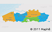 Political 3D Map of Vlaanderen, single color outside