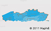 Political Shades 3D Map of Vlaanderen, cropped outside