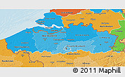 Political Shades 3D Map of Vlaanderen