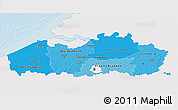 Political Shades 3D Map of Vlaanderen, single color outside