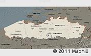 Shaded Relief 3D Map of Vlaanderen, darken