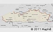 Shaded Relief 3D Map of Vlaanderen, desaturated