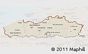 Shaded Relief 3D Map of Vlaanderen, lighten