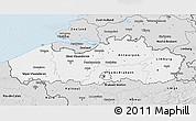 Silver Style 3D Map of Vlaanderen
