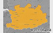 Political Map of Antwerpen, desaturated