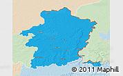 Political 3D Map of Limburg, lighten