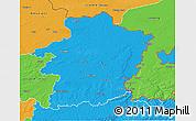Political 3D Map of Limburg