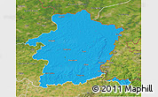 Political 3D Map of Limburg, satellite outside