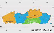 Political Map of Vlaanderen, cropped outside
