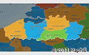 Political Map of Vlaanderen, darken