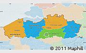 Political Map of Vlaanderen, lighten