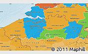 Political Map of Vlaanderen, political shades outside