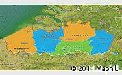 Political Map of Vlaanderen, satellite outside