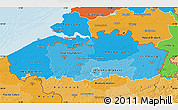 Political Shades Map of Vlaanderen