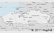 Silver Style Map of Vlaanderen