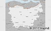 Gray 3D Map of Oost-Vlaanderen
