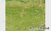 Satellite 3D Map of Oost-Vlaanderen