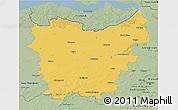 Savanna Style 3D Map of Oost-Vlaanderen