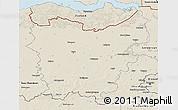 Shaded Relief 3D Map of Oost-Vlaanderen