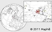 Blank Location Map of Oost-Vlaanderen