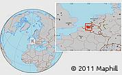 Gray Location Map of Oost-Vlaanderen