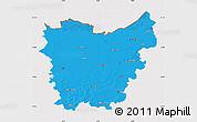 Political Map of Oost-Vlaanderen, cropped outside