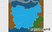 Political Map of Oost-Vlaanderen, darken