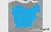 Political Map of Oost-Vlaanderen, desaturated